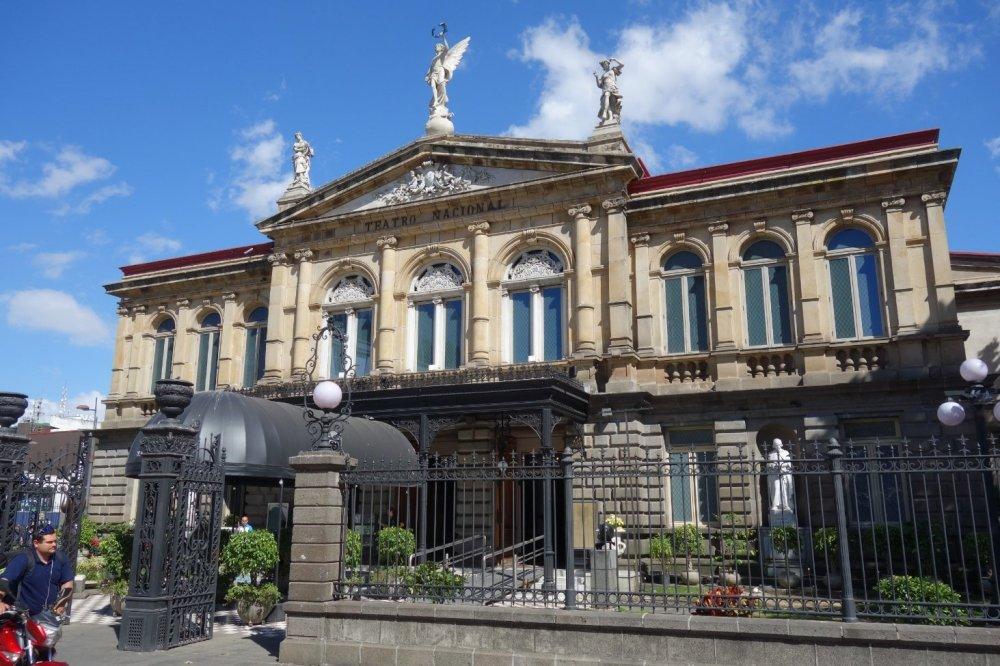 Front view of the Teatro Nacional in San José, Costa Rica