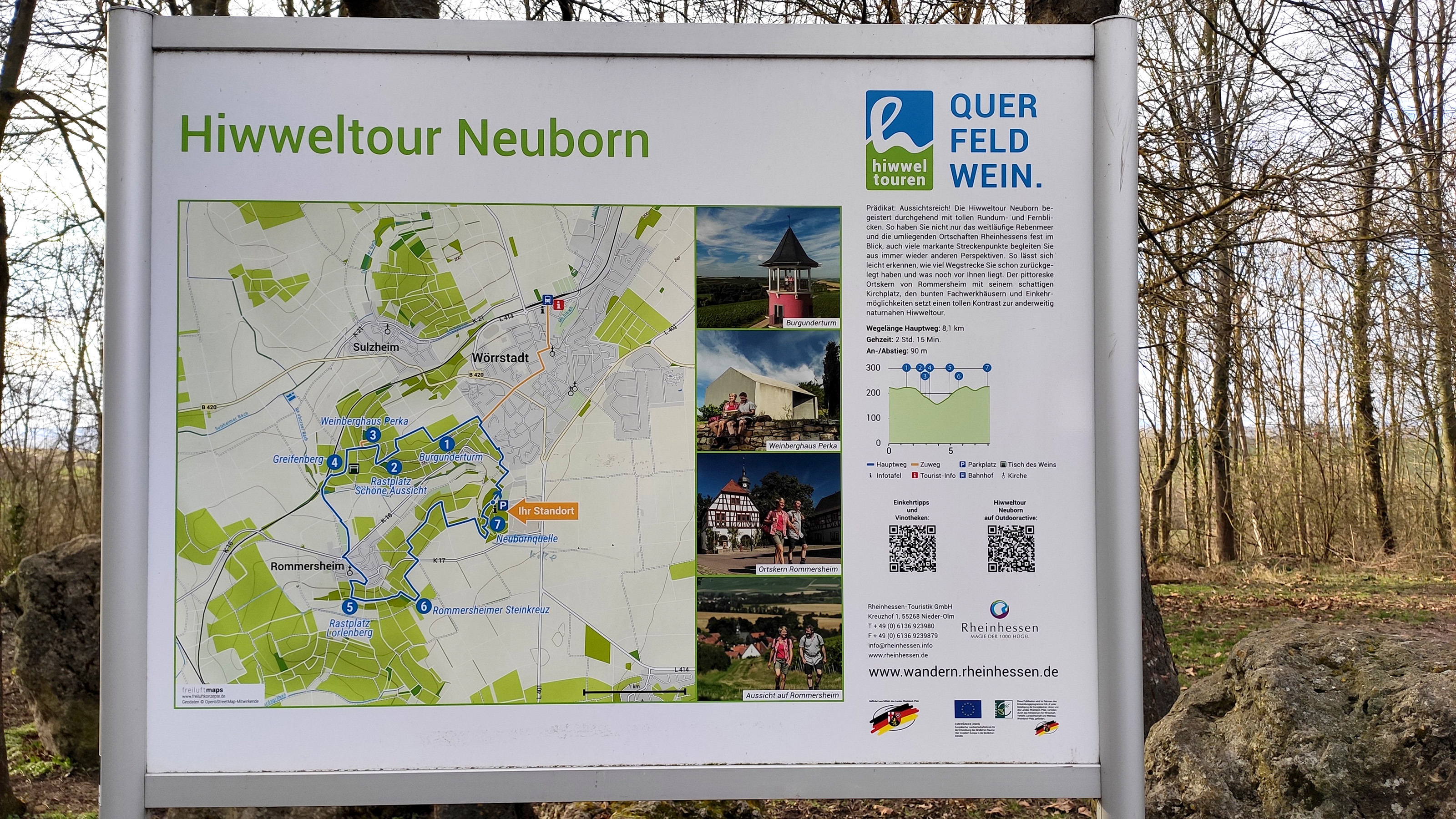 Hiwweltour Neuborn trail overview Information board